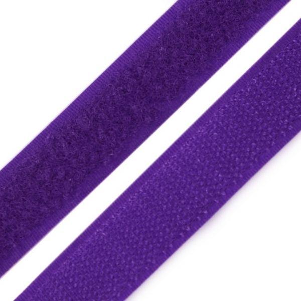 Suchý zip šíře 20 mm - fialová
