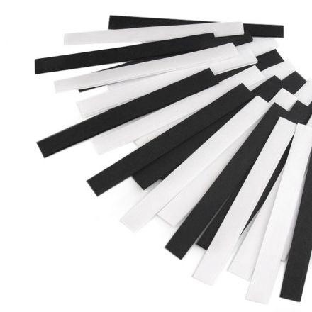 Galanterie: Suchý zip střihaný 20cm (25 párů) - mix černobílá