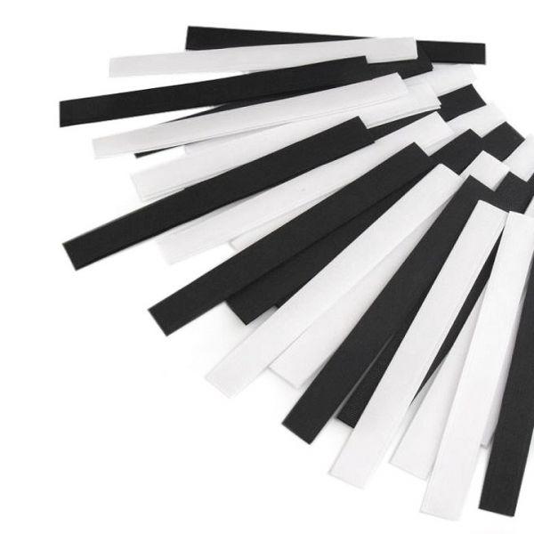 Suchý zip střihaný 20cm (25 párů) - mix černobílá
