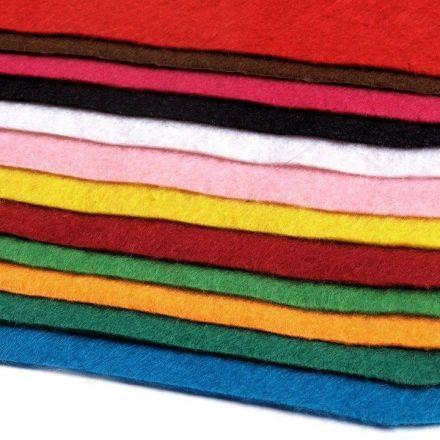 Galanterie: Dekorativní plsť/filc 20 x 30 cm (12ks) - mix