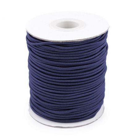 Galanterie: Kulatá pruženka 2 mm (1m) - tmavě modrá
