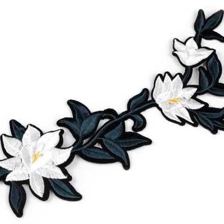 Galanterie: Nažehlovačka na rifle květy