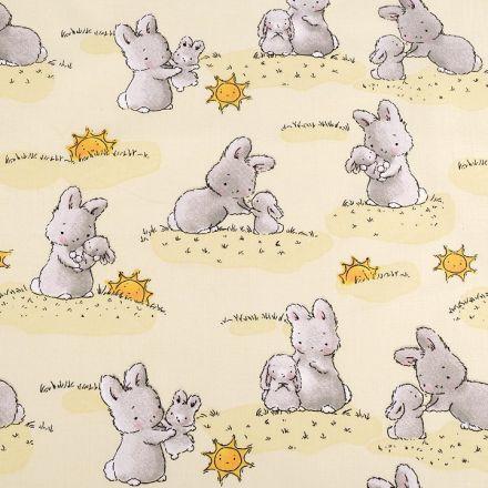 Metráž: Bavlněná látka králíček šíře 160 cm.