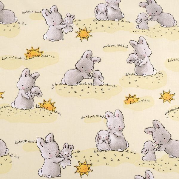 Bavlněná látka králíček šíře 160 cm.