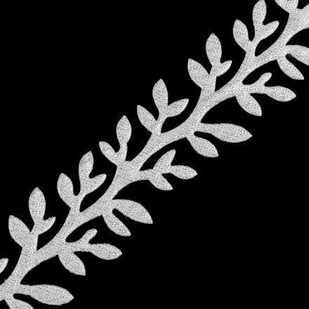Galanterie: Saténový prýmek šíře 24 mm - stříbrná