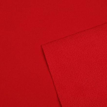Metráž: Zimní softshell šíře 145 cm - červená
