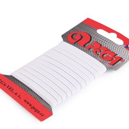 Galanterie: Prádlová pruženka na kartě 4 mm (5m) - bílá