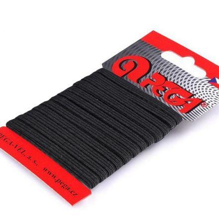 Galanterie: Prádlová pruženka na kartě 4 mm (5m) - černá