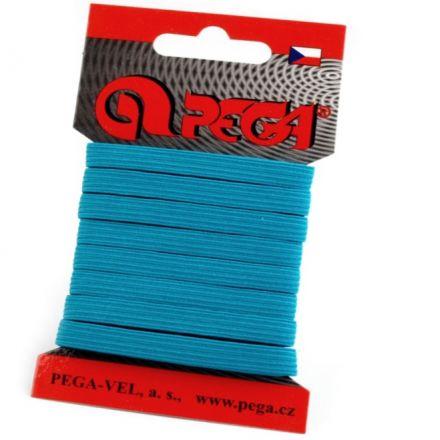 Galanterie: Pruženka šíře 7 mm (5m) - modrá tyrkys