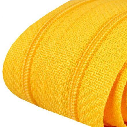 Galanterie: Zip spirálový šíře 3 mm (1m) - žlutá
