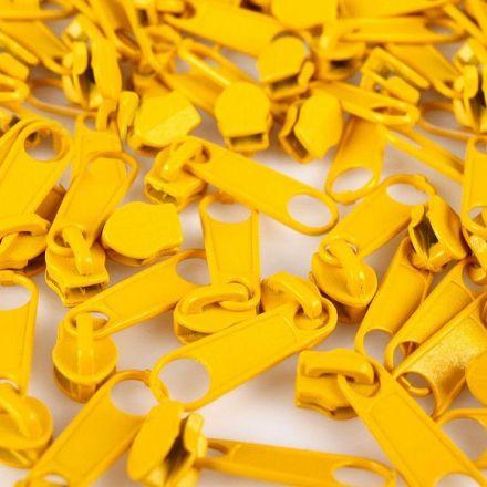 Galanterie: Jezdec k zipům šíře 3 mm - žlutá