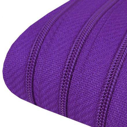 Galanterie: Zip spirálový šíře 3 mm (1m) - tmavě fialová