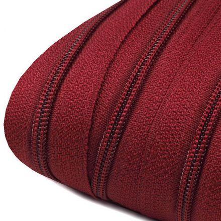 Galanterie: Zip spirálový šíře 3 mm (1m) - bordó