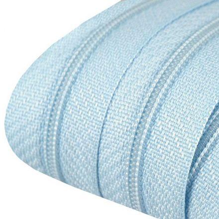 Galanterie: Zip spirálový šíře 3 mm (1m) - světle modrá