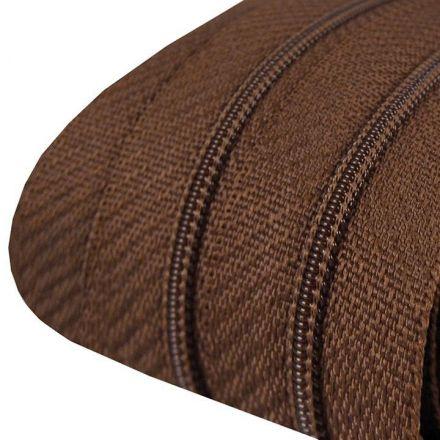 Galanterie: Zip spirálový šíře 3 mm (1m) - hnědá