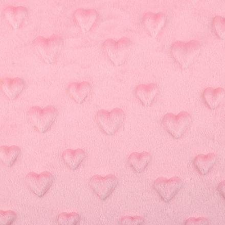 Metráž: Minky 3D srdce - růžová