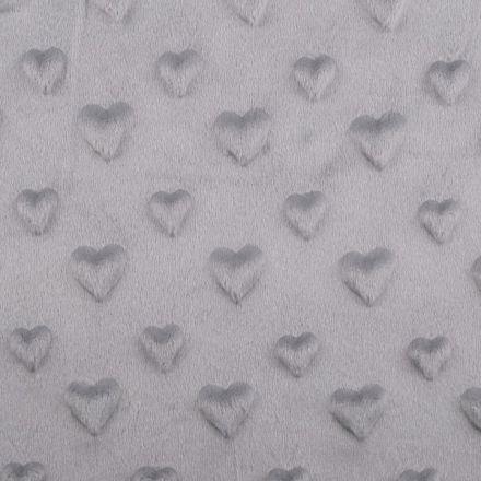 Metráž: Minky 3D srdce - šedá