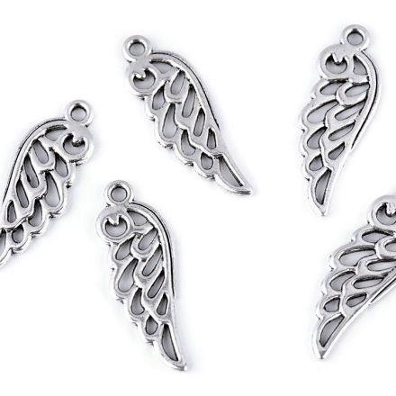 Galanterie: Přívěsek andělské křídlo 10x26 mm (1ks)