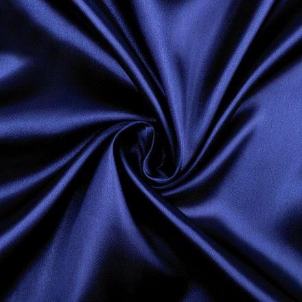 Metráž: Satén šíře 150 cm - modrá