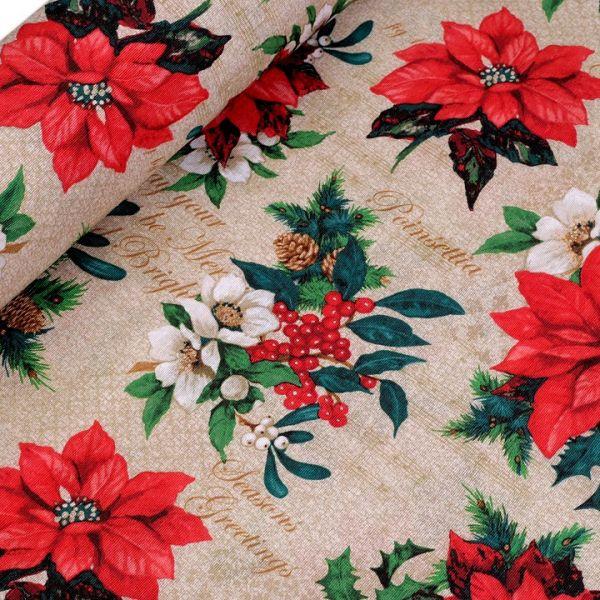 Dekorační látka vánoční hvězda