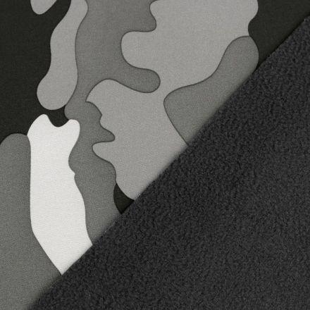 Metráž: Zimní softshell šíře 145 cm - maskáč
