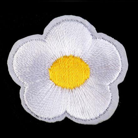 Galanterie: Nažehlovačka květ - bílá