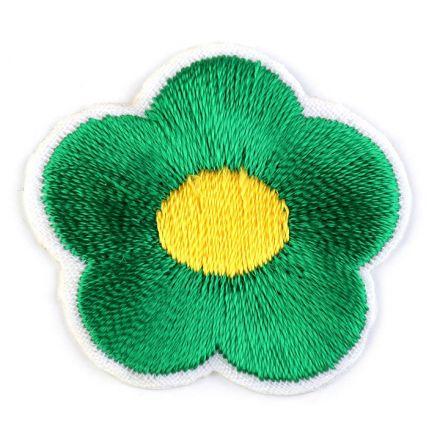 Galanterie: Nažehlovačka květ - zelená