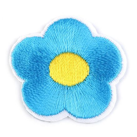 Galanterie: Nažehlovačka květ - modrá