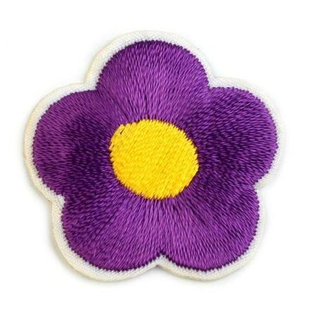 Galanterie: Nažehlovačka květ - fialová