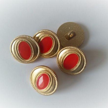 Galanterie: Knoflík zlatý 15 mm (1ks)