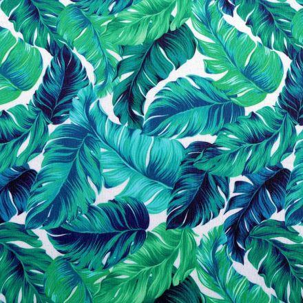 Metráž: Dekorační látka tropické listy šíře 140 cm