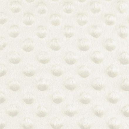 Metráž: Minky s 3D puntíky - krémová