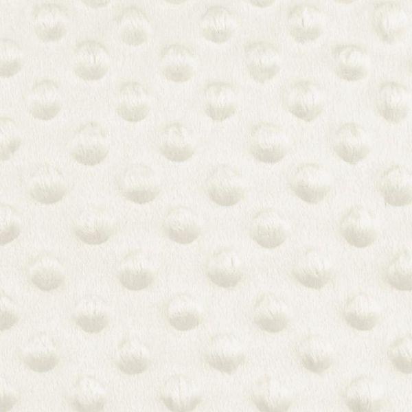Minky s 3D puntíky - krémová