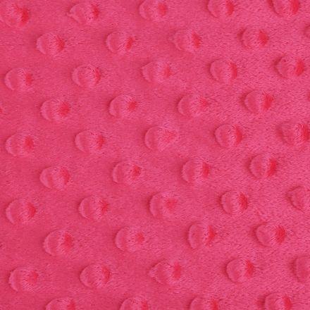 Metráž: Minky s 3D puntíky - pink