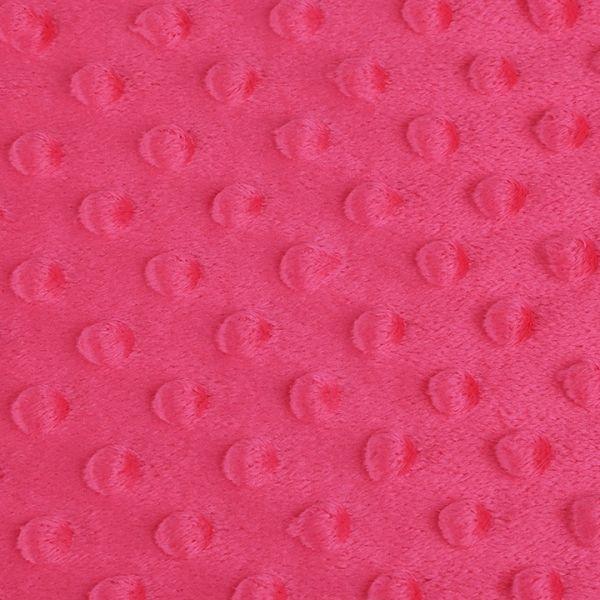 Minky s 3D puntíky - pink
