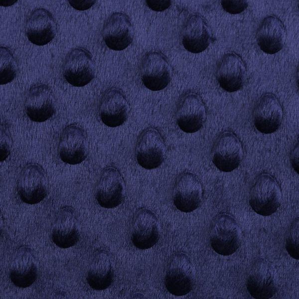 Minky s 3D puntíky - tmavě modrá