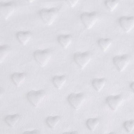 Metráž: Minky 3D srdce - bílá