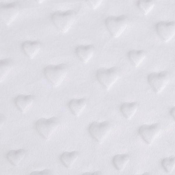 Minky 3D srdce - bílá