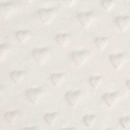 Metráž: Minky 3D srdce - krémová