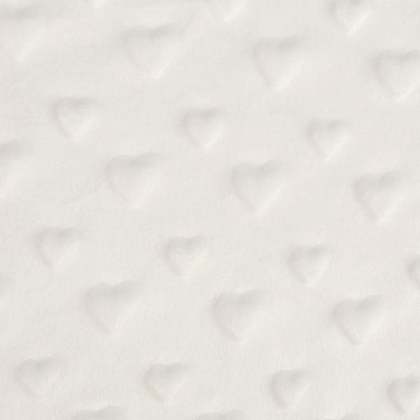Minky 3D srdce - krémová
