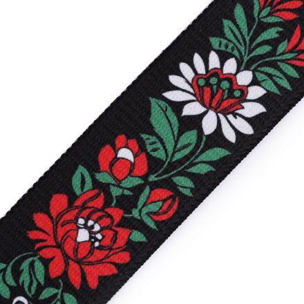 Galanterie: Pruženka folklor šíře 40 mm (1m) - černá
