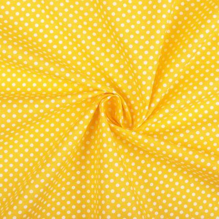 Metráž: Bavlněná látka puntík - žlutá