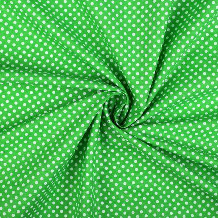 Metráž: Bavlněná látka puntík - zelená