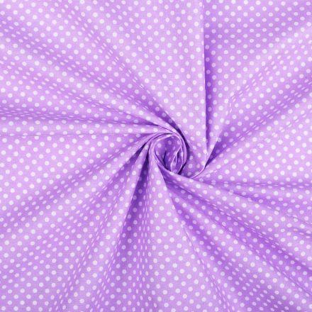 Metráž: Bavlněná látka puntík - fialová