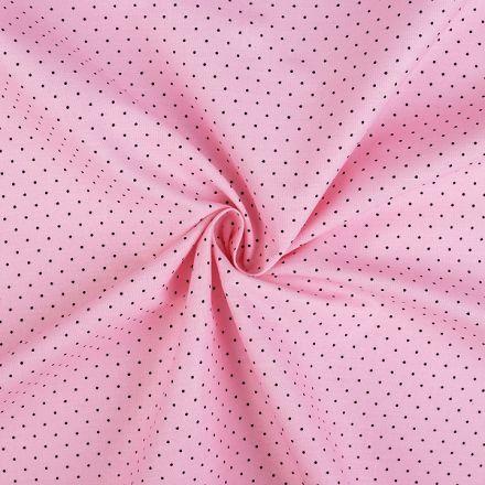 Metráž: Bavlněná látka puntík - sv. růžová