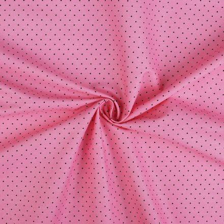 Metráž: Bavlněná látka puntík - stř. růžová