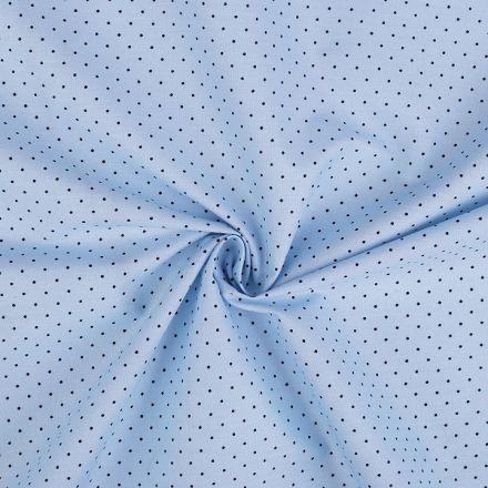 Metráž: Bavlněná látka puntík - sv. modrá