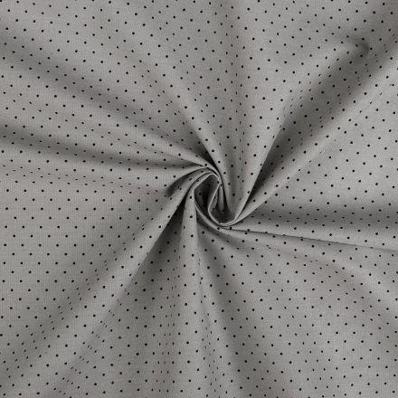 Metráž: Bavlněná látka puntík - sv.šedá