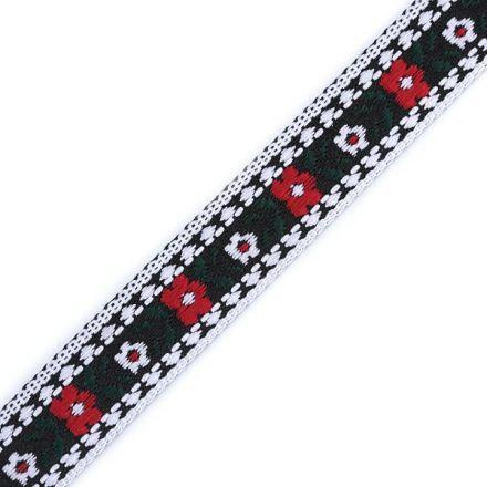 Galanterie: Krojová vzorovka šíře 15 mm (1m) - černá