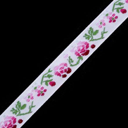 Galanterie: Vzorovka šíře 15 mm (1m) - bílá